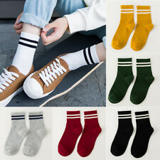 Women Ankle Socks Stripes Cotton Warm Thick Fashion One Size Hosiery Simple