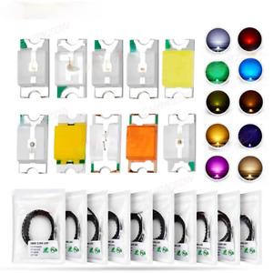 100pcs SMD 0402 0603 0805 1206 3528 2835 5050 5730 LED Diodes RGB 5KIT Light