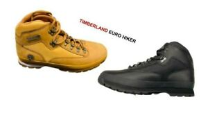 TIMBERLAND EURO MID HIKER (TB056038 001-TB091566 231) BLACK & WHEAT SIZES 8-13