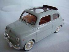 Perfecto Bolsas Asiento Fiat 600 coche Gris Open Top 1/43rd Escala Modelo Clásico (=)