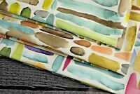 upholstery fabric soft texture quality random paint print sofa and cushion chair