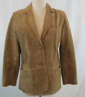 Margaret Godfrey Petite Leather Tan Blazer Size 8P Free Shipping (1S-0243)