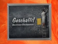 1 g Gramm Gold Goldbarren Motivbox Geschafft Prüfung Abitur Geschenk Zertifikat