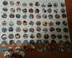 Lot of 83 different  AAFES 10 cents Pogs in Fine to A.U. condtion