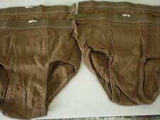 Men's Brown Army Briefs,FRUIT OF LOOM,100%cotton,size 32, 4 pairs total