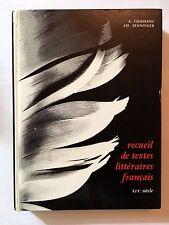 RECUEIL DE TEXTES LITTERAIRES FRANCAIS XIX EME SIECLE 1978 CHASSANG SENNINGER