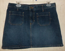 EXCELLENT WOMENS Abercrombie & Fitch DISTRESSED BLUE JEAN MINI SKIRT  SIZE 10