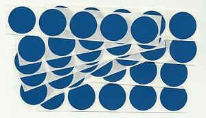 50 x 1 Inch Round Blue Scratch Off Stickers - Birthday, Wedding, Hen & Stag