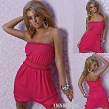 Vestido de verano 013 Sexy Mini de algodón-Rosa Disfraz De Playa-General en línea innmark