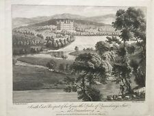 1775 Antique Print;  Drumlanrig House, Dumfries and Galloway after Paul Sandby