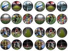 24 CAKE TOPPER Rugby Coppa del mondo ROUND commestibili CHIGNON Fairy decorazioni per cupcake Partito Palla