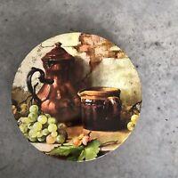 Still Life Cookie Fruit Jug Circular Round Tin