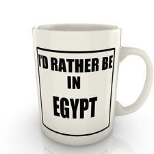 I' prof Rather être dans un Egypte - Tasse comme cadeau nouveauté voyage