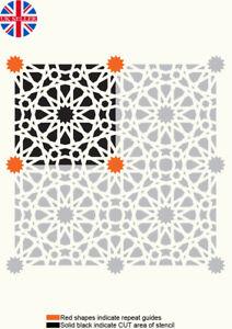 Tile Stencils 100mm Moroccan Paint Furniture Wall Floor Reusable Art Crafts TL53
