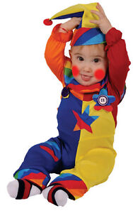Dress up America- Kid'S Cute Multicolor Clown Costume- Toddlers Fun Cosplay Suit
