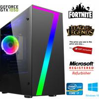 Ultra Fast Gaming PC Intel Core i7 8GB Memory GTX 1050 Ti 1TB Windows 10 Home