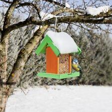 Buntes Vogelhaus Vogelfuttersilo Futterstation Futterhaus grün-orange