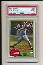 TOM SEAVER CINCINNATI REDS 1981 TOPPS #220 PSA 9 MINT HOF GRADED BASEBALL CARD