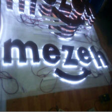 Custom Rusty Metal Channel Letters Lighted Signboard Outdoor light boxes banners