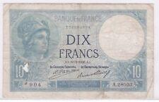 BILLET 10 FRANCS MINERVE AA 10 9 1926 AA 904 A 28033