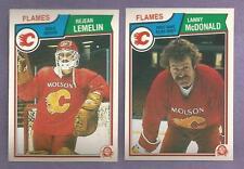 1983-84 OPC O-PEE-CHEE Calgary Flames Team Set
