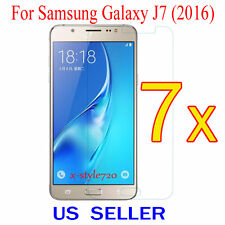 7x Clear Screen Protector Guard Cover Film Shield For Samsung Galaxy J7  (2016)