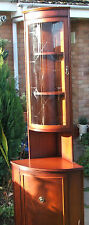 BERESFORD & HICKS CORNER UNIT DISPLAY CABINET CASH ON COLLECTION ONLY SY112