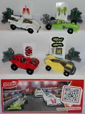 SERIE COMPLETA ELASTIC CARS (FF042 - FF045) + 4 BPZ KINDER ITALIA 2014/2015