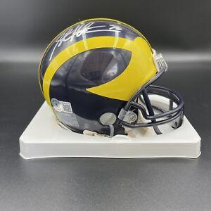 Steve Hutchinson Signed Autographed Michigan Wolverines VSR4 Mini Helmet Beckett