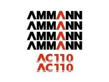 Sticker, aufkleber, decal - AMMANN AC 110