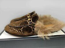 Gucci Womens Princetown GG velvet slipper 448657