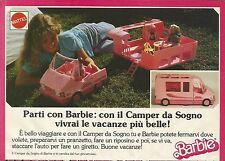 X1130 BARBIE - Parti con il Camper da sogno - Pubblicità 1989 - Advertising