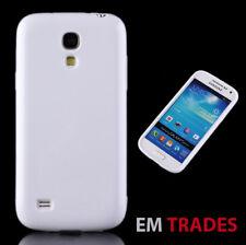 Silikon TPU Case für Samsung Galaxy S4 mini Schutz Hülle Schale Weiß  18