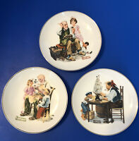 Set of 3 1984 Norman Rockwell Museum 6.5 inch Collectors Plates Excellent Cond