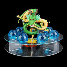 DRAGON BALL SHENRON, FIGURA + 7 BOLAS DE DRAGON AZULES + Display