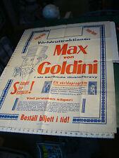 "vintage aprox 30 x 40"" MAGIC Poster: MAX von GOLDINI in German, ORIGINAL 1941"