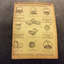 Antique Catalogue Page - Jam & Preserve Dishes, Cased Cutlery