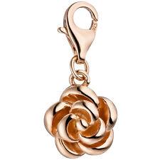 JOBO Einhänger Charm Rose 925 Silber rotgold vergoldet Anhänger für Bettelarmban