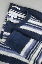 GANT RUGGER THE STRIPE-Q-RAMA Men SMALL Purl Knitted Pullover / Sweater 21130_JS