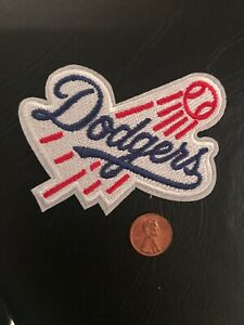 "LA Los Angeles Dodgers Vintage  Embroidered Iron On Patch 3.5"" x 2"""