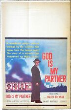 "GOD IS MY PARTNER-1957-Original ( U.S. ) Movie Poster 14"" X 22"""