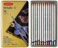 Derwent ~ Artists Metallic Pencil Set ~ 12 Colors ~ With Tin ~ BrandNEW