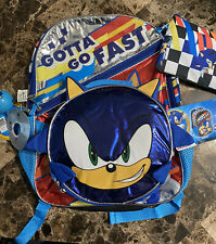 New listing Sonic the hedgehog backpack bonus 5 piece set New With Tags