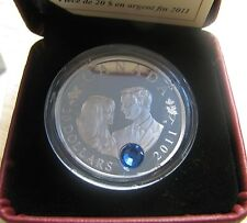 2011 Proof $20 Royal Wedding Prince William Will Catherine Kate .9999 silver