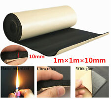 1Mx1M 10mm Car Hood Door Heat Soundproof Deadener Acoustic Foam Insulation Mat