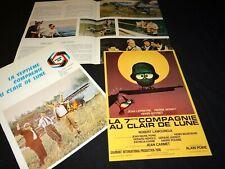 LA 7ème compagnie AU CLAIR DE LUNE p mondy lefebvre scenario presse cinema 1977