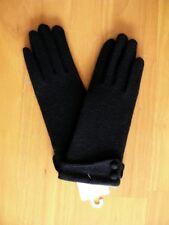 gants en laine mode angora noir femme neuf