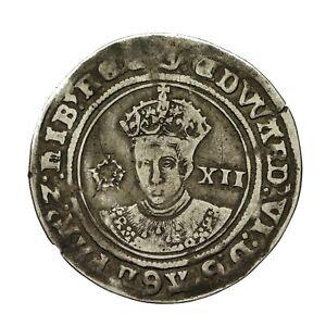 Edward vi hammered silver Shilling  mm y  S2482
