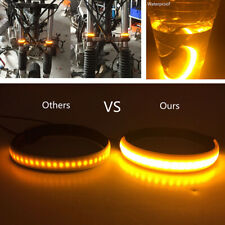 2pcs Amber SMD LED Strip Motorcycle Car Fork Turn Signal Indicator Light Blink