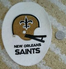 New Orleans Saints NFL football 7x5 inch oval die-cut embroidered patch 1980s
